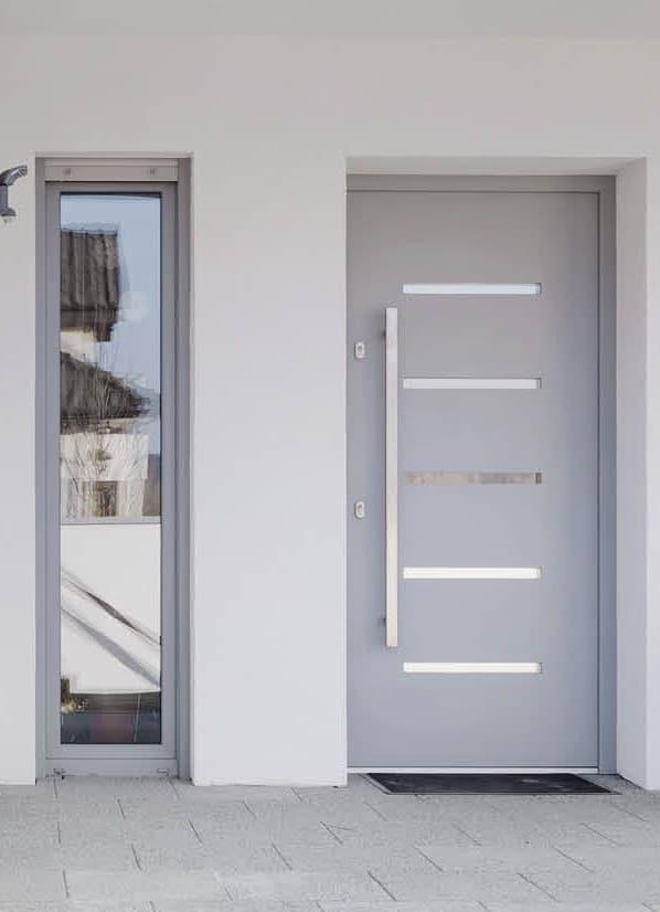 porte entrée blanche